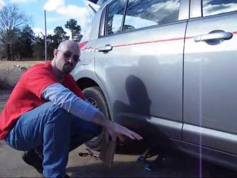 How to Change a Tire & Proper Nissan Versa OEM Jack Use