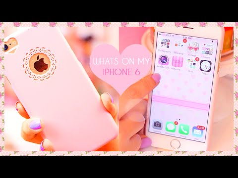 ♥ Whats on my Girly iPhone 6 2015 ♥  Pink iPhone & Editing Apps