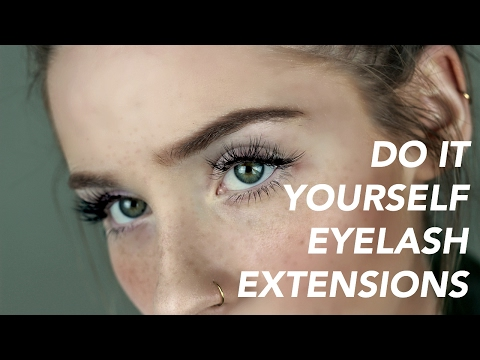 How I do my own EYELASH EXTENSIONS | Erin Rose