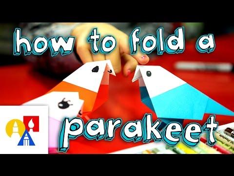 How To Fold An Origami Bird (Parakeet)