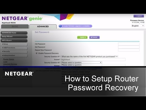 How to Setup Router Password Recovery | NETGEAR