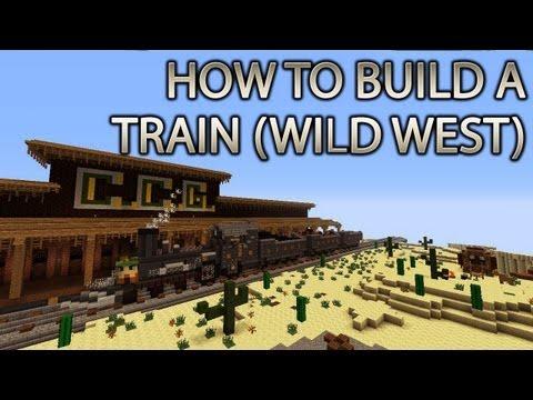 Minecraft Xbox 360: How to Build a Train (WILD WESTERN) cRz Build Team @choochoosgaming