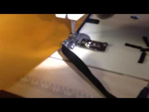 Sewing edging, as fast as the machine will go.