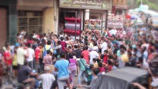 #x202b;مظاهرة بسبب محمد رمضان في اخر يوم تصوير فيلم جواب اعتقال 2016 القاهرة#x202c;lrm;