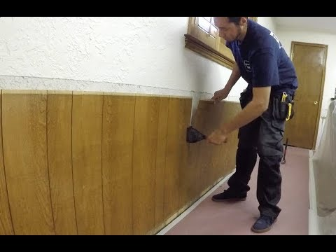 Tearing Out Some 1970's Wainscoting