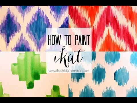How To Paint Ikat Patterns