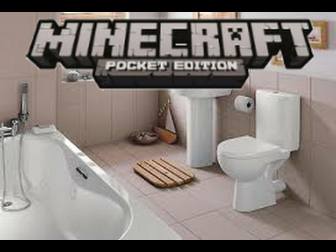 How to make a working bathroom!  Minecraft Pocket Edition