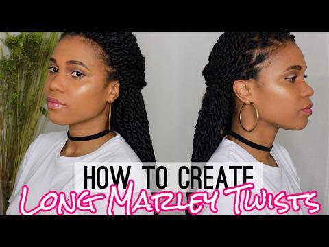 How To Create Long Marley Twist | Collab w. Hair By Mason