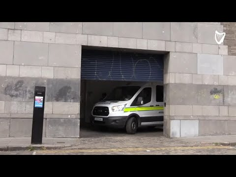 VIDEO: Garda van leaves court carrying boy charged with murdering Ana Kriegel
