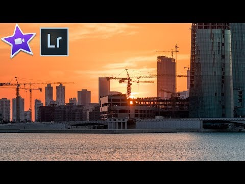 How to Edit a TIME-LAPSE Video USING IMOVIE and LIGHTROOM!!