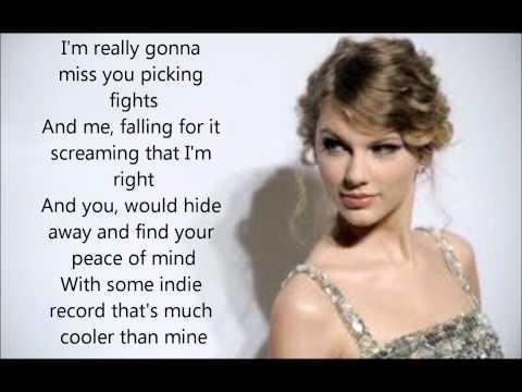 Taylor swift- We never getting back together lyrics