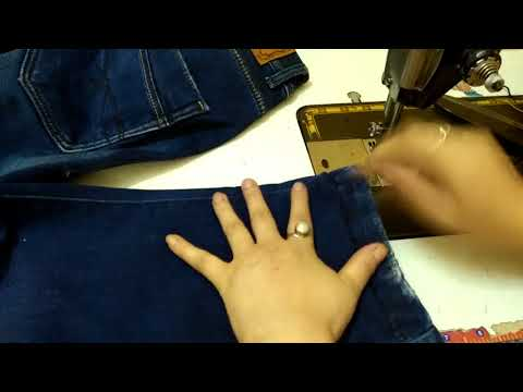 How to Alter Jeans length with Original Hem