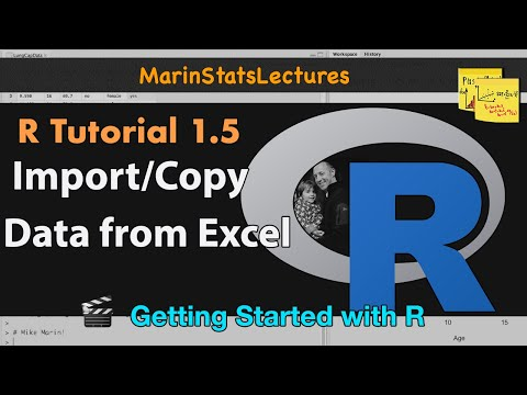 How to Import Data, Copy Data from Excel to R: .csv & .txt Formats (R Tutorial 1.5)