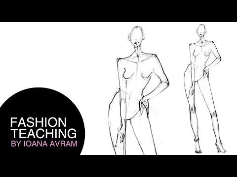 How to draw a fashion model - quick sketch