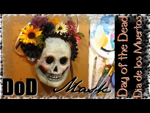 How to paint a DoD skull mask Day of the Dead. Halloween mask