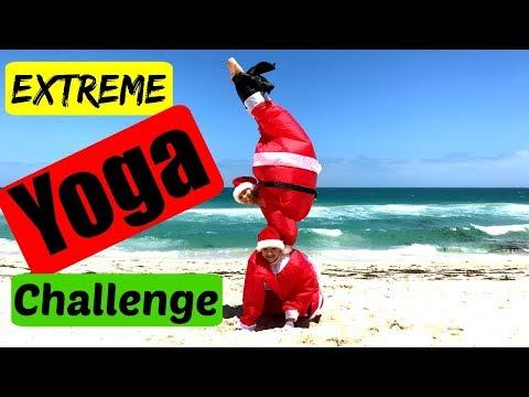 Extreme Yoga Challenge Christmas edition | Teagan & Sam