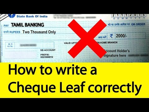 How will you write a Cheque correctly Banking Basics | Tamil Banking