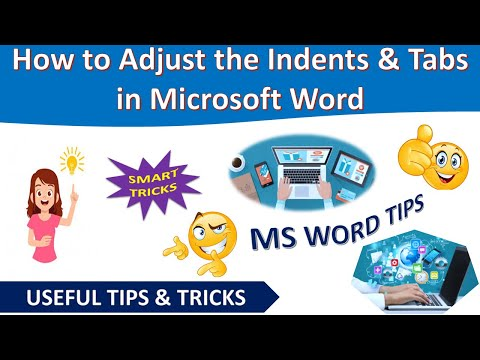 How to Adjust the Indents and Tabs in Microsoft Word [Urdu / Hindi]