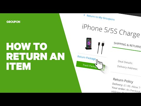 How to Return an Item with Groupon