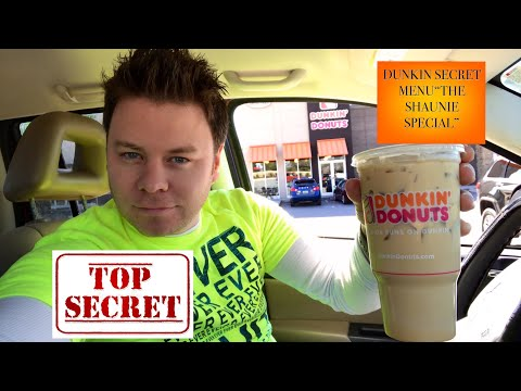 """DUNKIN DONUTS SUPER SECRET ICED COFFEE """"THE SHAUNIEE SPECIAL"""" DRINK REVIEW"""