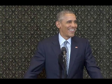 The President Speaks at the Illinois State Capitol in Springfield