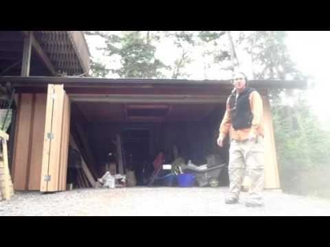 Custom bifold garage doors