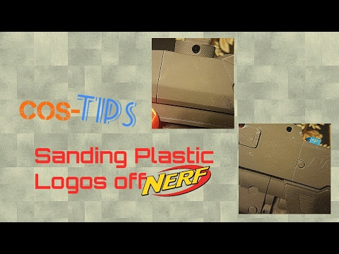 Cos-Tips: Removing logos From Plastic