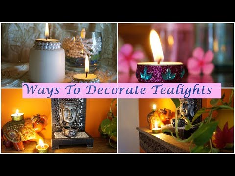 Crafts In A Jiffy    Ways To Decorate Tealights