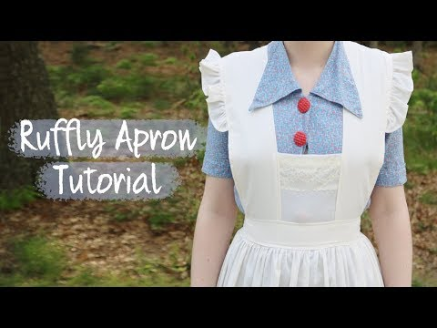 Ruffly Apron Tutorial - Vintage inspired!