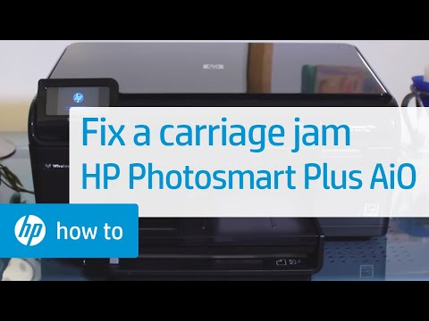 Fixing a Carriage Jam - HP Photosmart Plus All-in-One Printer (B209a)