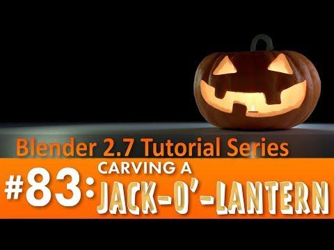 Blender 2.7 Tutorial #83: Carving a Jack-o'-Lantern #b3d