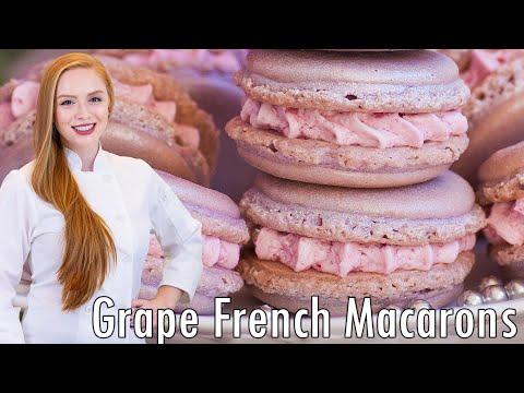 Sparkling Wine Grape Macarons