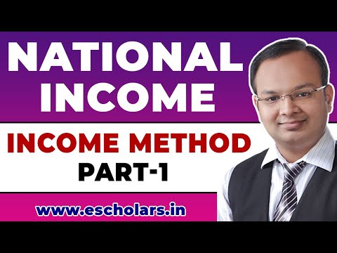 #14   National Income   Methods of computing national income   Income Method (Part - 1)