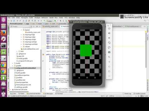 Android ZXing library example  - Zxing Barcode Generator Java Example