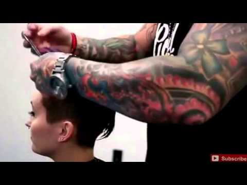 Punk Hair Cut Easy Tutorial How To Color And Style Mohawk Style Hair Cut And Beautiful Bright Colour