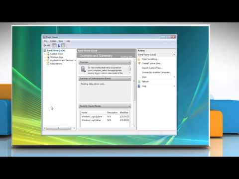 How to check the Windows® Vista Event Viewer for problems