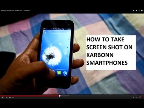 How to take a Screenshot - Karbonn Mobiles