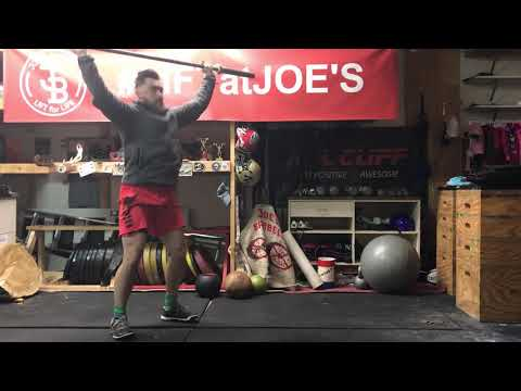 Hang Snatch with No foot movement from knee