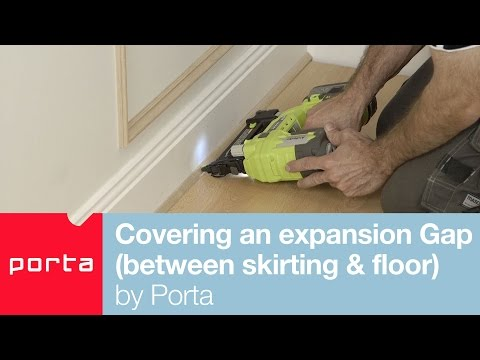 Covering an expansion Gap (between skirting & floor) by Porta