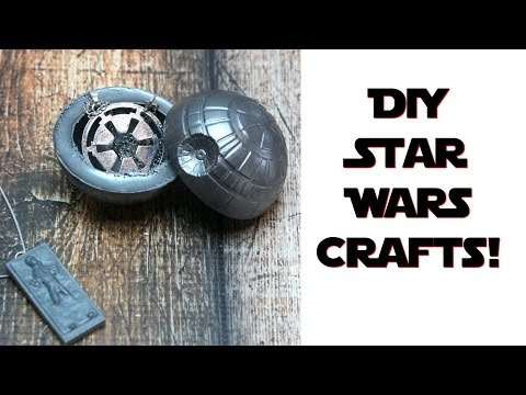 DIY Star Wars crafts! DIY Death Star & DIY Han Solo Trapped in Carbonite | Nerdy Crafts Ep. 31