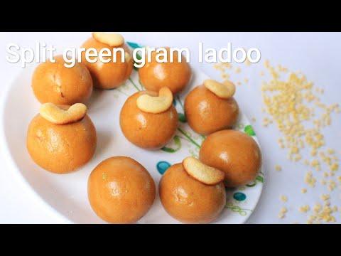 Moong dal ladoo - Split green gram ladoo / laddu - Moong dal laddu - Ladoo recipe - Laddu recipe