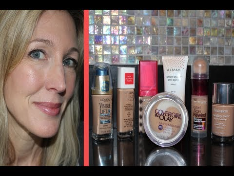 Best & Worst ~ Testing 7 Drugstore Foundations for Mature, Aging Skin