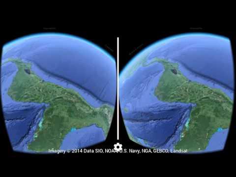 Test VR cardboard Google earth FR