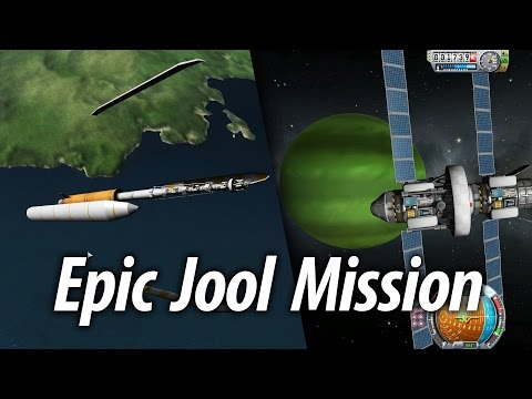 Single Launch Jool System Mission (Episode: 18) Kerbal Space Program (KSP) 1.1 Stock Career
