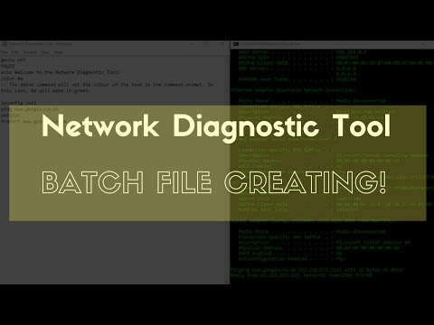 How To :: Create a Network Diagnostic Tool :: Batch File Tutorials