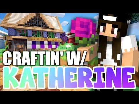 Minecraft FLOWER SHOP! Craftin' w/ Katherine Ep.8