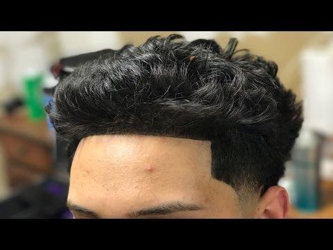 Curly/Wavy Hair Taper Fade HAIRCUT TUTORIAL