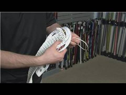 Lacrosse Equipment : How to String a Lacrosse Stick