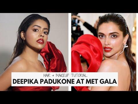 DEEPIKA PADUKONE AT MET GALA 2018 | Hair & Makeup Tutorial