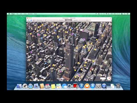 How to control Maps in OS X Mavericks with gestures